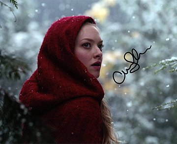 AMANDA SEYFRIED 8x10 Female Celebrity Photo Signed - Red Hood In Seyfried Riding Amanda