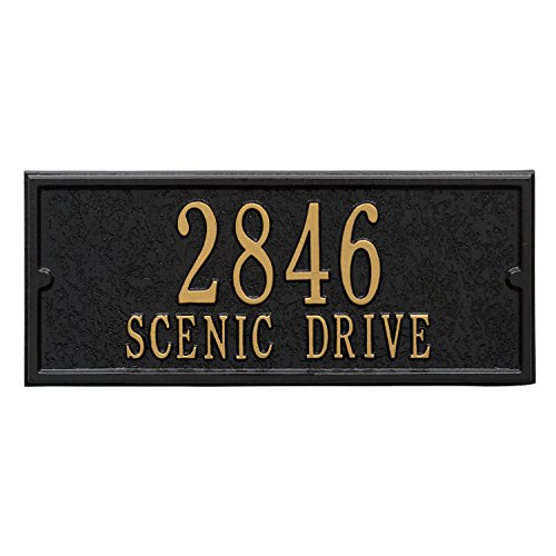 Streetside Deluxe Mailbox Package (Black) by WHITEHALL (Image #1)