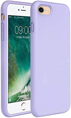 "Miracase iPhone SE 2020 Case,iPhone 8 case,iPhone 7 Silicone Case Gel Rubber Full Body Protection Cover Case Drop Protection for Apple iPhone SE 2020/ iPhone 8/ iPhone 7(4.7"")(Light Purple)"