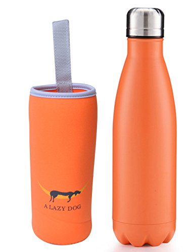 A Lazy Dog Vacuum Insulated Water Bottle 17 Oz Double Walled Stainless Steel Cola Shape Water Bottle Outdoor Sports