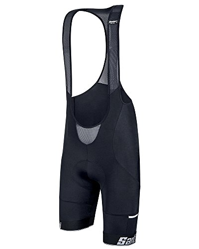 Santini Men's Mago Bib Shorts, Black, (Santini Bib)