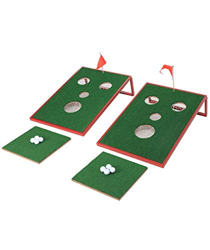 SPRAWL Golf Chipping Game 2 x 3 FT Cornhole Set Indoor Outdoor Golf Chip Yard Game for Tailgate, Party, Office, Backyard