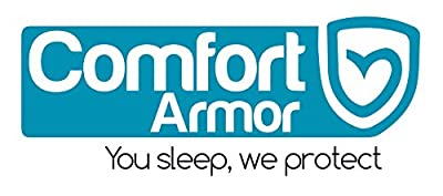 Mattress Cover by COMFORT ARMOR - Waterproof Mattress Protector - Protect your Mattress against Bedbugs, Dust Mites and Spills - Hypoallergenic and Breathable Vinyl Free Mattress Pad