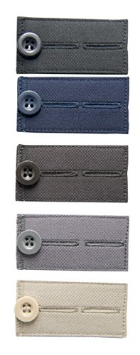 Comfy Clothiers Buttons Waist Extenders for Pants and Dre...