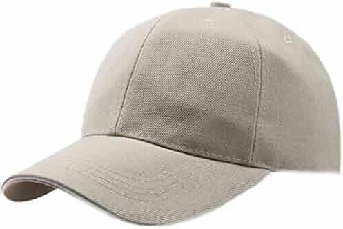 799d1fe3148ce iCJJL Men Women Baseball Cap - Low Profile Dad Hat Plain Trucker Hat Strap  Back Adjustable
