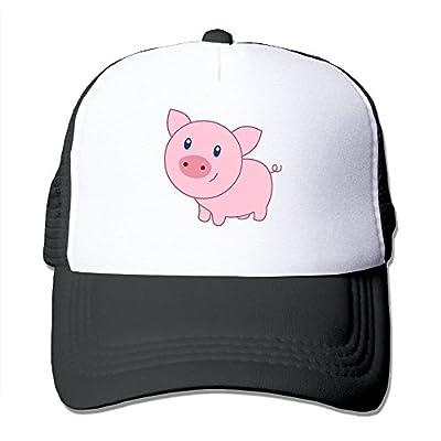 Cute Cartoon Pig Trucker Cap Baseball Snapback Cap Mesh Hat Black