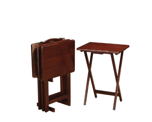 Coaster Home Furnishings Casual Tray Table, Merlot (Tables Merlot Nesting)