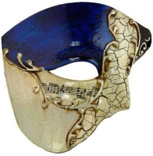 Men Male Phantom of the Opera Red Green Blue Black Music Motif Masquerade Mask