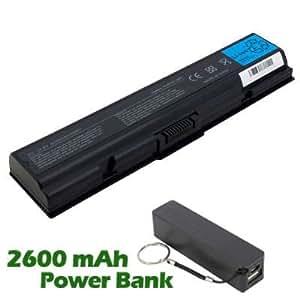 Battpit Bateria de repuesto para portátiles Toshiba Satellite L305-S5920 (4400 mah) con 2600mAh Banco de energía/batería externa (negro) para Smartphone