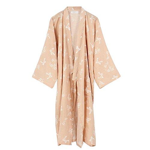 Kimono Fancy Abito Color203 da da Taglia cotone Camicia L Abito giapponese Pumpkin donna in Pigiama notte 8rxZnaP8T