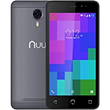 """NUU Mobile A3 5.0"""" Unlocked Android Smartphone w/2 months Lycamobile 29 Unlimited Plan Included"""