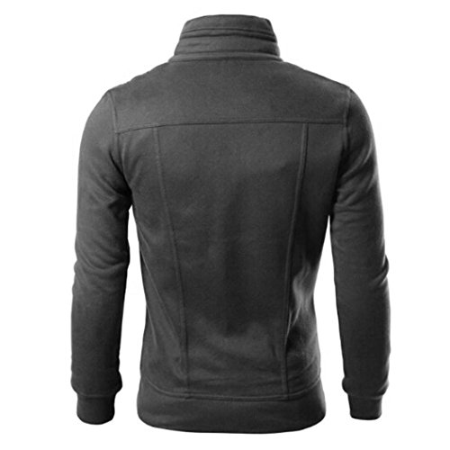 Hot Sale! Men Jacket,Canserin 2017 Fashion Mens Classic Slim Designed Lapel Cardigan Coat Sweatshirt Jacket (L, Dark Gray)