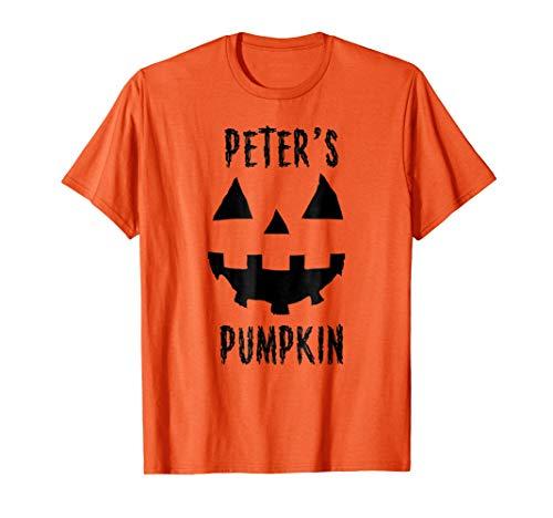 Mens Couples Costume Ideas Halloween T Shirt Peter's Pumpkin 3XL Orange