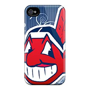 Great Hard Phone Cases For Iphone 4/4s With Allow Personal Design Beautiful Cleveland Indians Skin SherriFakhry