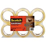 3750 Commercial Grade Packaging Tape, 1.88'''' x 54.6yds, Clear, 6/Pack, Sold as 6 Each