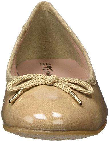 Patent Beige Ballerines 22123 Tamaris Femme nude xYZUn8