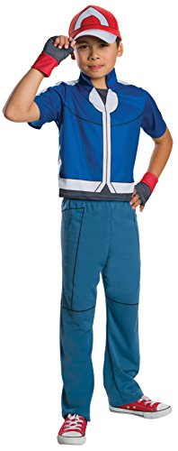Ash Ketchum And Pikachu Costume (Rubie's Costume Pokemon Ash Deluxe Child Costume,)