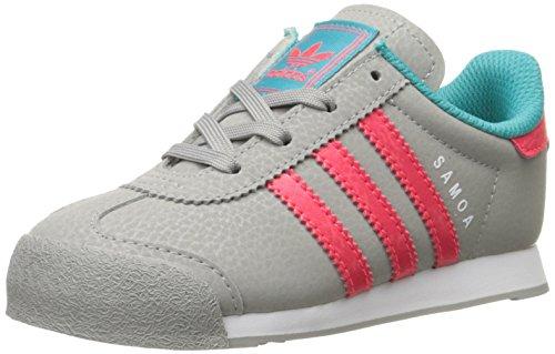 adidas Originals Samoa I Fashion Sneaker (Infant/Toddler),Solid Grey/Shock
