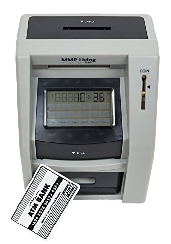 Atm Savings Bank With Touch Screen  Black
