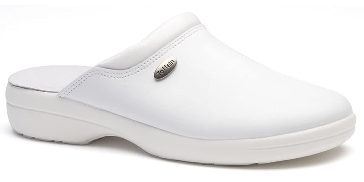 Toffeln Flex Lite 0501 Flexible Light Nursing Clogs Shoes - White