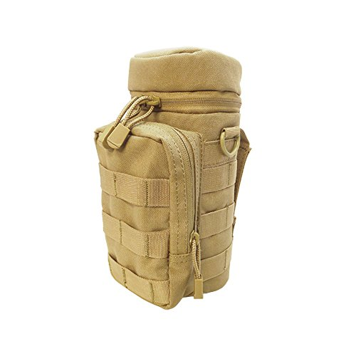 Molle Water Hydration Pouch Carrier Utility Pocket Water Pack Carrier-TAN