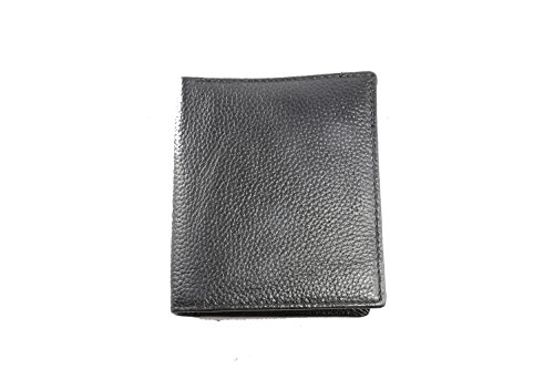 Card 5 Slot Black and Wallet Windows Id with Leather Trifold 3 Creidt Artmi Sqp81wvx