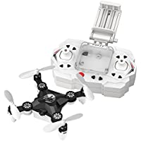 MKLOT FQ11W WiFi Pocket Drone Mini RC Quadcopter FPV Camera 4CH 6-Axis Gyro w/ Switchable Controller RTF One Key Return Helicopter Best Gift for Boys Kids Children - Black