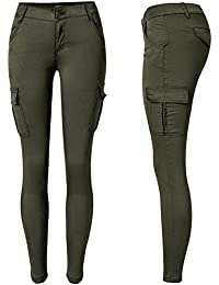 Womens Skinny Jeans Stretch Camouflage Cargo Joggers Pencil Denim Pants