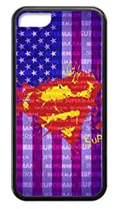 Spraying Superman Logo With US Flag Background Case Cover for Iphone 5C