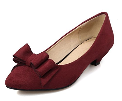 Vineux Noeud Rouge Conique Femme Chic Escarpins Talon Aisun xnwqa0T1Hx
