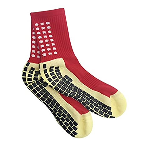enorme sconto scarpe da corsa ampia scelta di colori Golo Sport-Calzini Antiscivolo Calcio-Cuscinetti in Gomma-Unisex-Taglia  Unica-trusox/Stile-Nero-Rosso-Bianco-Fitness-Crossfit