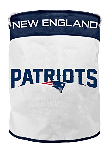 Handles Rope Braided - NFL New England Patriots Canvas Laundry Basket with Braided Rope Handles