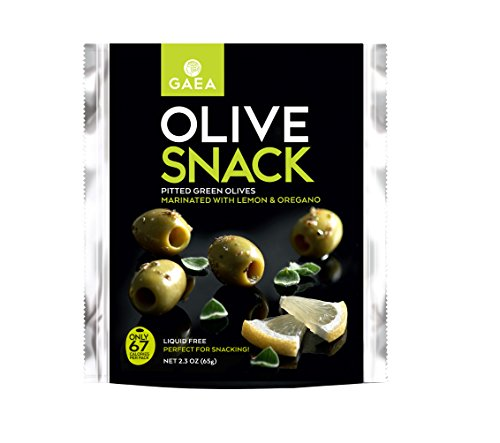 Green Olive Snack Packs with Lemon and Oregano 8 ct. 2.3 oz Packs