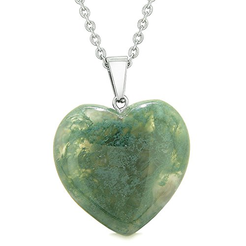 Moss Agate Pendant Necklace - 9