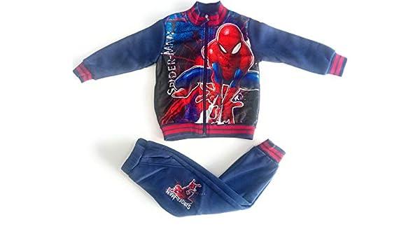 Spíderman Chandal Marvel para niño (Azul Marino, 4 años): Amazon ...