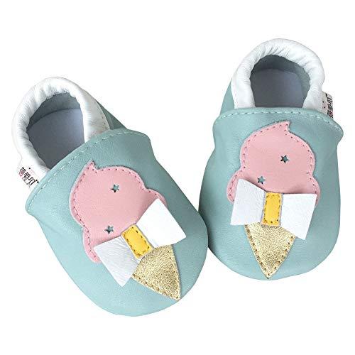 Bleu Glace Chaussures Unisexe Pour Premier Souple Chaussons Pas Lpattern Cuir Le Bébé PwvCwqg