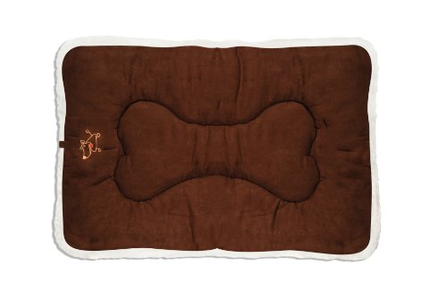 """Best Pet Supplies Double Sided Dog Crate Mat (42"""" x (Brown Suede Crate Mat)"""