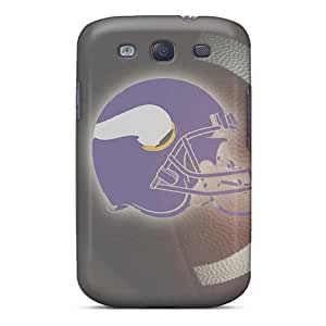 VariousItem RjAVq24125veddT Case For Galaxy S3 With Nice Quarterback Minnesota Vikings Helmet Appearance