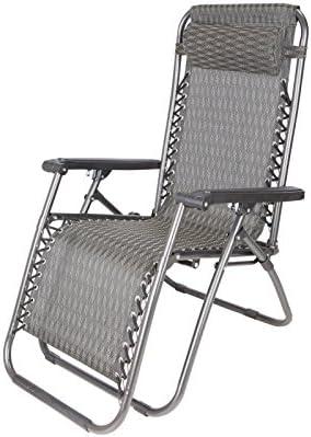 YOPEEN Tumbonas   Zero Gravity Outdoor Lounge Chairs Blue Patio Sillas reclinables Plegables Ajustables, 1 Pack: Amazon.es: Jardín