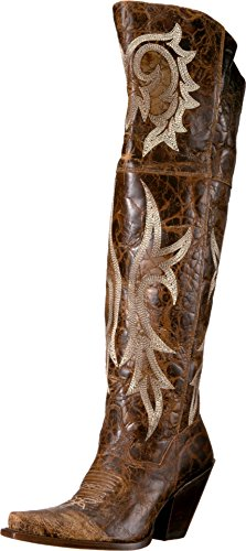 "Dan Post Fashion Boots Womens Jilted 20"" Leather 7 M Brown DP3709"