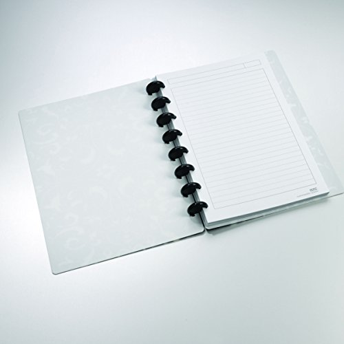 "Staples Arc Customizable Flower Circle Design Notebook System, Black & White, 6-3/8' x 8-3/4"""