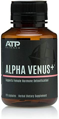 ATP Science Alpha Venus – 100 Natural Vegan Dietary Supplement for Women to Support Female Hormone Detoxification and maintain healthy levels Organic Ingredients against Estrogen, Toxins Stress