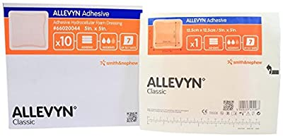 "Allevyn Adhesive Foam Dressing 5"" x 5"" - Box of 10"