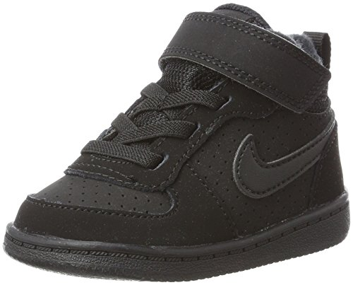 0 Borough black 24 Pantofole Nike Bimbi tdv Court Nero black 001 Unisex Mid 58nq04P