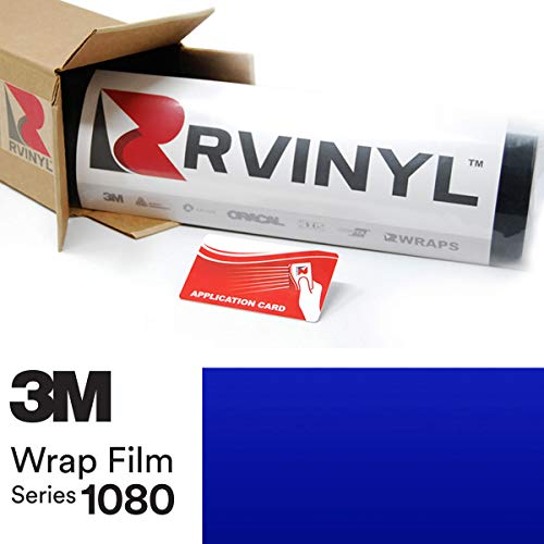 3M 1080 G377 Gloss Cosmic Blue 4in x 6in (Sample Size) Vinyl Vehicle Car Wrap Film Sheet Roll ()