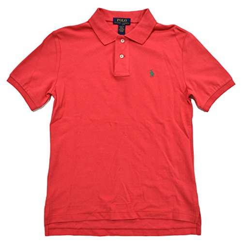 ys Classic Fit Mesh Polo Shirt (X-Large (18-20), Sunset Red) ()