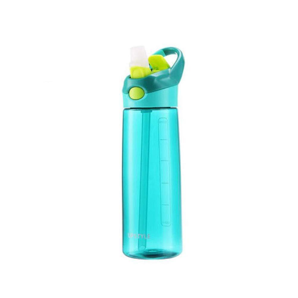 FH Bottiglia di Acqua all'aperto di Sport Portatile della Bottiglia di plastica di Forma Fisica (colore   verde)