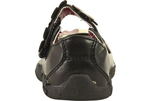 Hello Kitty Moda Para Niñas Mary Jane Flats Hk Lil Vanessa Zapatos Fe362-1 Negro