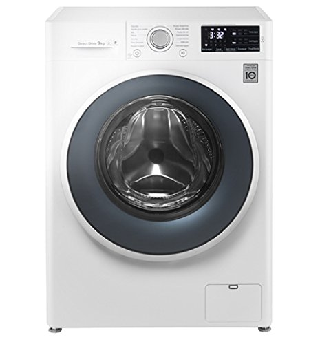 LG fh4u2vcn2Independent Front Load 1400tr/min A + + 9KG Washing Machine–White + 30%, Front Load, stand-alone Washing Machines (White, Left, LED, 180°)