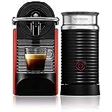 Máquina de Café Combo Pixie Red Carmine com Aeroccino, 220V, Nespresso, Vermelho